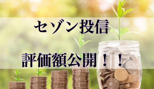 セゾン投信の評価額公開!!