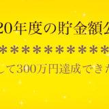 2020年度の貯金額公開〜果たして300万円達成はできたのか💜〜