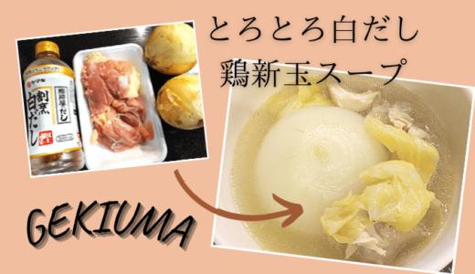 山本ゆりさんの炊飯器で【とろとろ白だし鶏新玉スープ】をつくってみたら最高に美味しかった