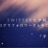 【Twitter七夕企画④】ブログでフォロワーさんをご紹介『子育て編』